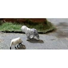 00B09 Old English Sheepdog met 2 Suffolk
