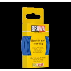 3105 Brawa draad Blauw 0,14 MM² 10 meter