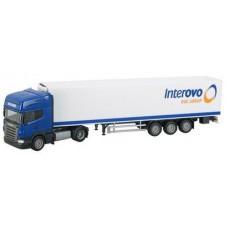 HERPA SCANIA truck met oplegger INTEROVO OP=OP