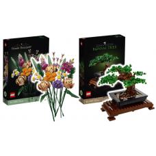 10280 - 10281 Lego Creator Expert Bloemenboeket en Bonsaiboom COMBIDEAL