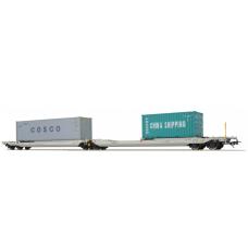 36546 ESU Pullman AAE NL Taschenwagen Bauart Sdggmrs COSCO - CHINA SHIPPING