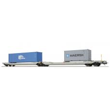 36547 ESU Pullman AAE NL Taschenwagen Bauart Sdggmrs TRANS CONTAINER - MAERSK