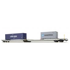 36549 ESU Pullman NL-RN Taschenwagen Bauart Sdggmrs CMA CGM - MAERSK