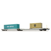36550 ESU Pullman NL-RN Taschenwagen Bauart Sdggmrs CHINA SHIPPING - MSC