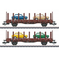 "46404 Marklin Set platte wagens ""DAF 66"" NS"