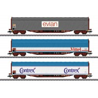"47118 Marklin Set schuifhuifwagens ""Mineraalwatertransport"" SNCF"
