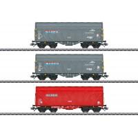 47224 Marklin 3-delige Set schuifhuifwagens NACCO