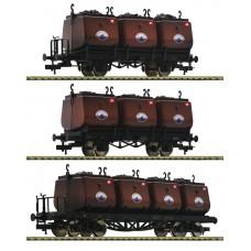 526505 Fleischmann 3-delige set kolenwagens Niederschlesisches Steinkohlen-Syndikat