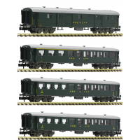 813005/-804/-908/-909 Fleischmann N set 4-delig Sneltreinrijtuigen SBB