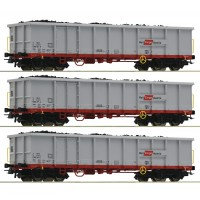 76082 Roco 3-delige set goederenwagons Eanos OBB Rail Cargo Austria