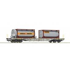 77340 Roco Containerdraagwagen BERTSCHI SBB Cargo AAE