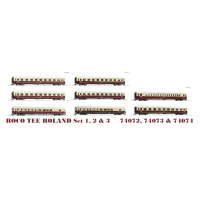 74072/-73/-74 Roco Personenrijtuigen Set 1 t/m 3 TEE 74/75 Roland DB