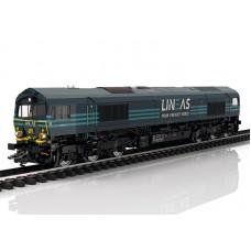 39062 Marklin Diesellocomotief Class 66 van LINEAS SNCB MFX+, Rook & Sound