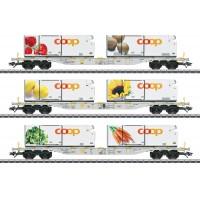 "47461 Marklin Set containerwagens ""Coop"" AAE Cargo AG"