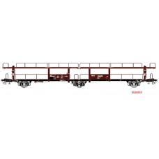 20553 Exact-Train NS Lacs autotransportwagen N.V. HOLLANDSCHE STOOMBOOT MIJ Amsterdam tijdperk III