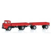 18035 Marklin Krupp vrachtwagen met laadbak, cabine boven de motor met aanhanger INSIDER