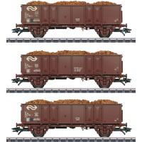 46019 Marklin 3-delige NS Set hogeboordwagens