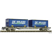 845373 Fleischmann N Containerdraagwagen De Waard