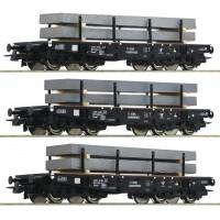 67194 Roco NS Set 3-delig Zwarelastwagens met staallading