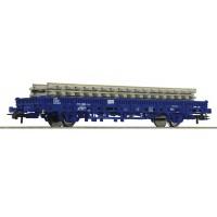 67583 Roco Railpro rongenwagen met rails
