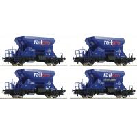 76137 Roco 4-delige NS Railpro grindwagenset Fccpps