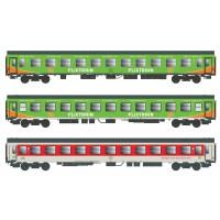55241 ACME 3-delige set personenrijtuigen type Bom en Bomdz Flixtrain