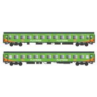 55242 ACME 2-delige set personenrijtuigen type Bom en Bomz Flixtrain
