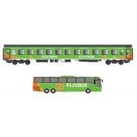 55249 ACME Personenrijtuig type Bomz + Bus MB Setra L17 RHD Flixtrain - Flixbus