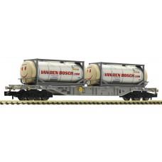 825211 Fleischmann N Containerdraagwagen met twee tankcontainers AAE Van den Bosch