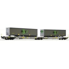 67404 Roco Doppel Taschenwagen MOVE AAE