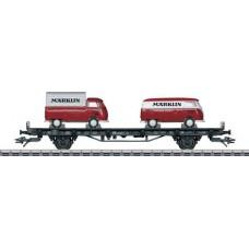 """45083 Marklin Autotransportwagen met 2 VW bussen Transporter T1 """"Märklin"""""""