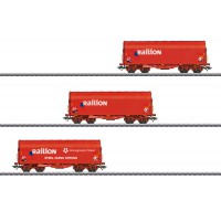 47221 Marklin Set met 3 schuifhuifwagens Shimmns Railion