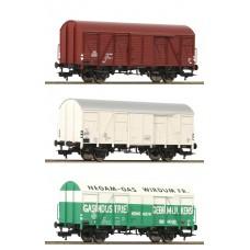 531104 Fleischmann 3-delige NS goederenwagenset oa. NEGAM
