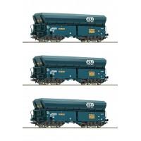 76132 Roco set 3-delig SNCB zelflossers B Cargo