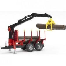 02252 Bruder Aanhanger voor houttransport met kraan 1:16