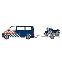 930932 Herpa VW T6 + aanhanger met BMW motoren Koninklijke Marechaussee NL