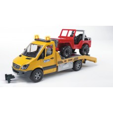 02535 Bruder Mercedes-Benz Sprinter sleepauto met Jeep 1:16