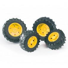 03314 Bruder Dubbellucht wielenset geel 1:16