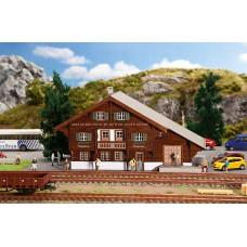 190055 Faller Station Langwies Lasercut Exclusief Zwitserland