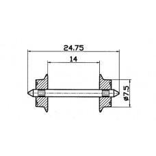 40184 H0 Roco wielstel wisselstroom, 7,5mm, 2 stuks