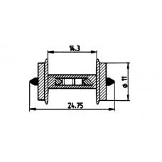 40186 H0 Roco wielstel met weerstand, 11mm, 2 stuks