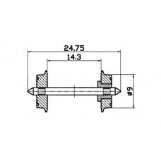 40194 H0 Roco NEM Normale wielset, 9mm, 2 stuks