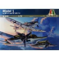 072 Italeri Vliegtuig Mistel 1  Ju 88 A-4  & BF 109 F-4