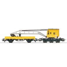 4471 Marklin Lageboordwagen geel (Past bij 4671 kraanwagen)